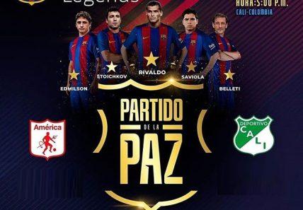 Barça legends jugará el 1 de Marzo de 2020 en el estadioPascual Guerrerode Cali