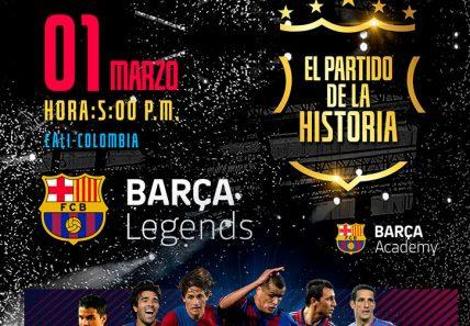 Boletas Barça Legends Cali ya a la venta