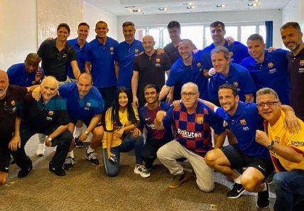 La Peña Barcelonista Cafetera de Cali, encantada con el Barça Legends